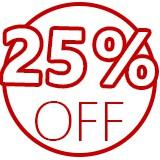 25 off logo