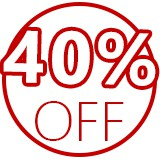 40 off logo