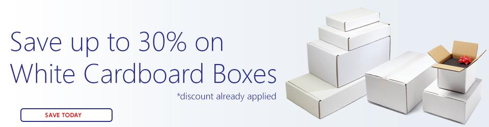 White Cardboard Box Sale